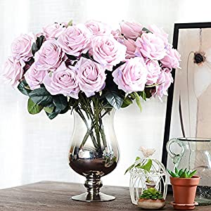 Artificial Flower Bouquet for Wedding 10 Heads French Rose Fake Flower Arrangement Floral Silk Flower for Home Party Table Decor 3