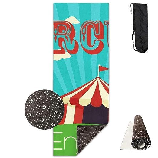 AUUOCC Old Circus Icons - Esterilla de Yoga (180 x 61 cm, Material ...