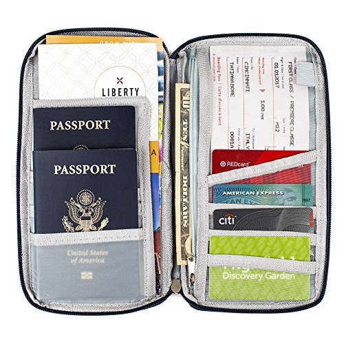 New Travel Wallet Family Passport Holder Rfid Blocking
