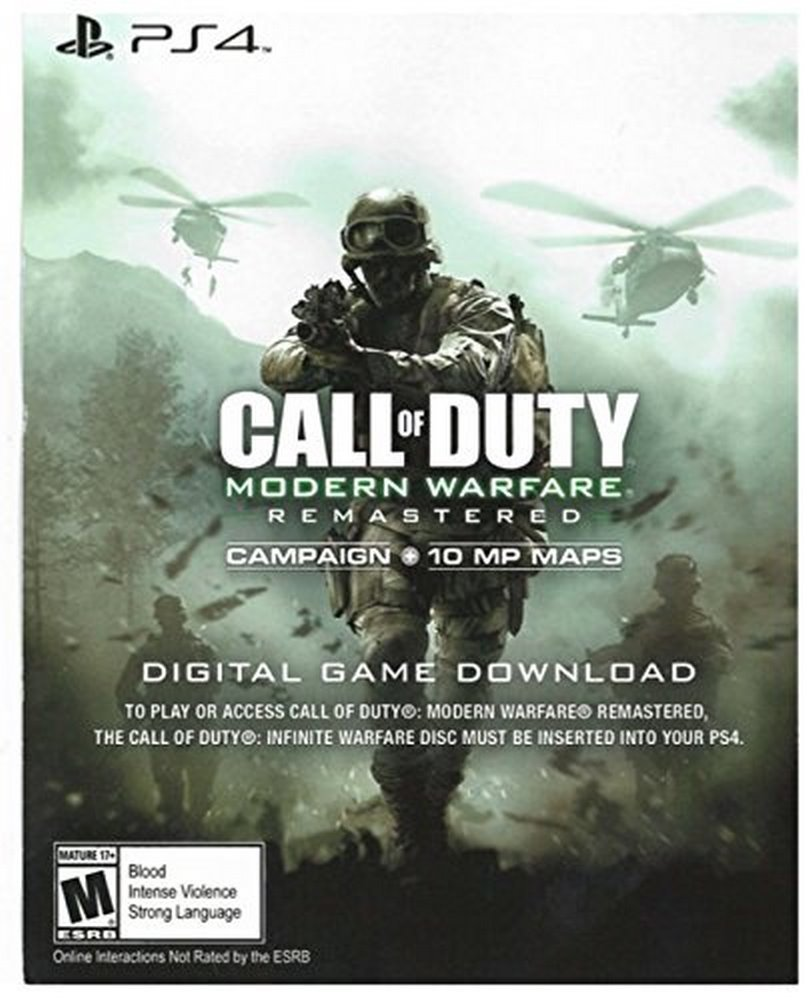 Ps4 Call Of Duty Modern Warfare Remastered Download Game Infinite Image Unavailable Not Available For Color Voucher