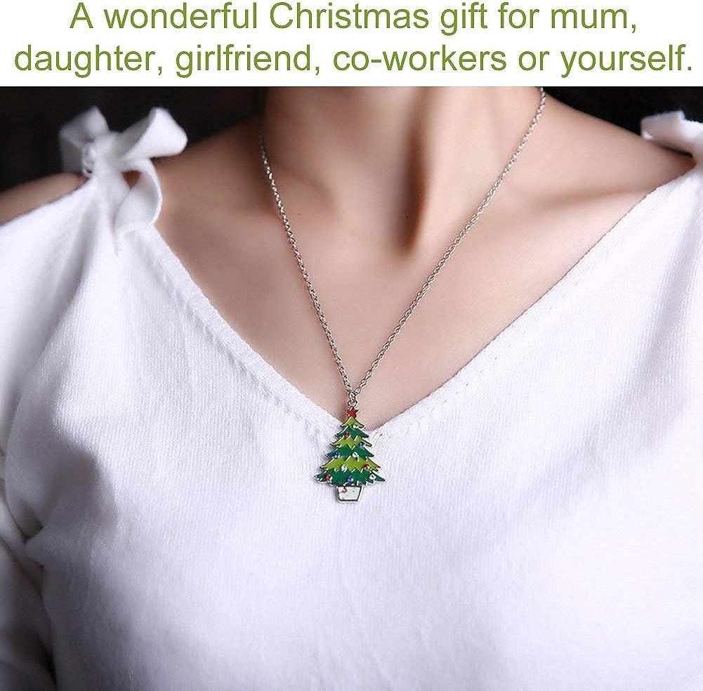 INTVN Schmuck Sets Weihnachten Halskette Armband Ohrringe Anh/änger Christmas Jewelry Set Damen M/ädchen
