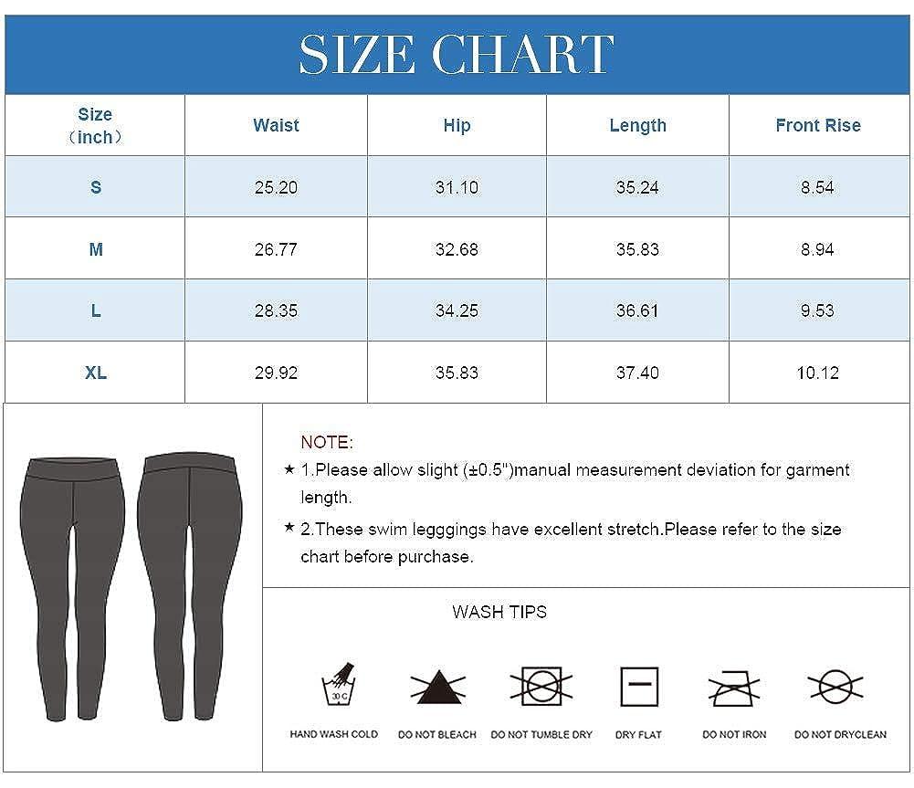 Ba/ñador Largo para Mujer Pantalones de nataci/ón UPF 50+ Anwell