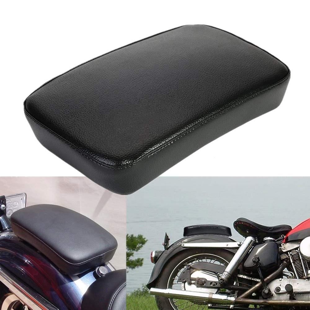 BRAUTO Motorrad Sozius Sitzpad mit 6 Saugnapf Kissen Sofa Beifahrer Sitz f/ür Harley Motorrad Dyna Sportster