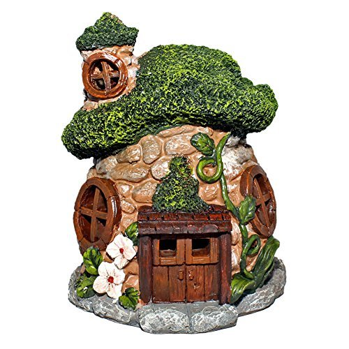 Mossy Gnome Fairy Garden Cottage by Delton