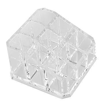 MagiDeal Solide Support Présentoir de Rouge à Lèvres à 9 Compartiments en  Acrylique Transparent Organisateur Rangement 9952cc4362c2
