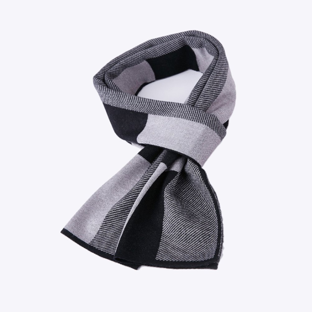 Zhhlinyuan 180cm Luxury One Size Warm Checked Scarf Neck Scarf for Men Women