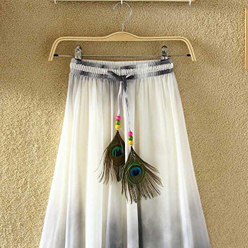 Ashir Aley Summer Floral Flowy Chiffon Long Maxi Skirt (Grey) by Ashir Aley (Image #3)