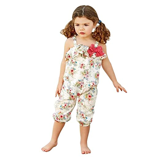 964ed8d499ad Amazon.com  chinatera Little Girls Halter Harem Romper
