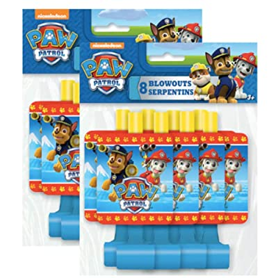 Paw Patrol 8ct Party Blow Outs - Pack of 2: Toys & Games