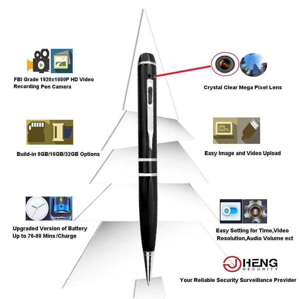 JC 8 GB 1080P Cámara Espía Bolígrafo 5 MP H264 Kit de grabación FBI grado: Amazon.es: Electrónica