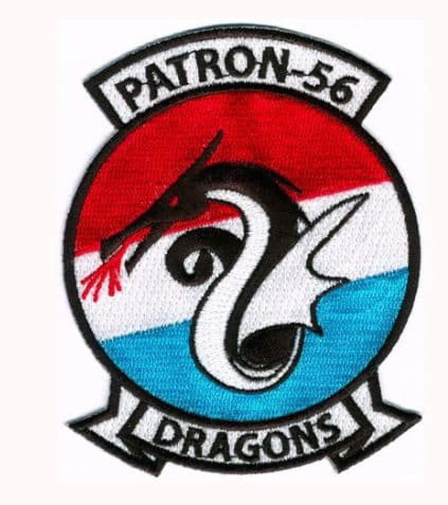 U.S Plastic Backing Navy VP-56 Dragons Squadron Patch