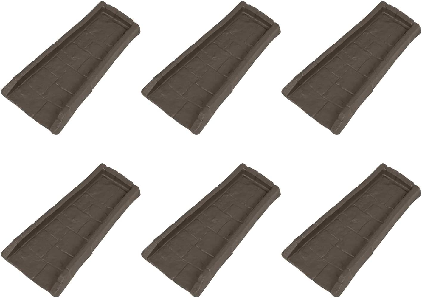 Suncast Home Splash Rain Gutter Drain Block Replacement Guard, Brown (6 Pack)