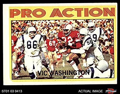3a3f53ead 1972 Topps   255 Pro Action Vic Washington San Francisco 49ers (Football  Card) Dean s