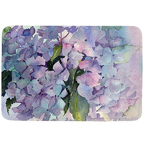 oFloral Doormat Indoor/Outdoor Entrance Mat Hydrangea Art Painting Welcome Doormat Easy Clean Non-slip Back 23.6
