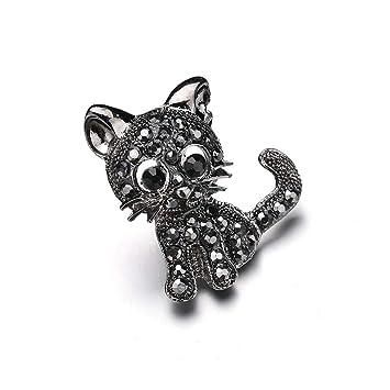 Serired Broche Exquisito para Ropa Mujer Gato pequeño Diamante-Tachonado con aleación de Diamante: Amazon.es: Hogar