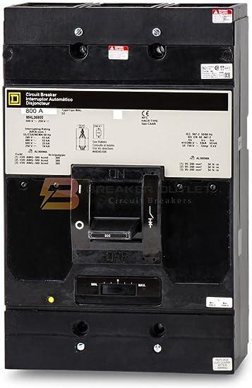 Refurbished GJL36050 Square D Circuit Breaker 3 Pole 60A 600V GJL 65kAIC