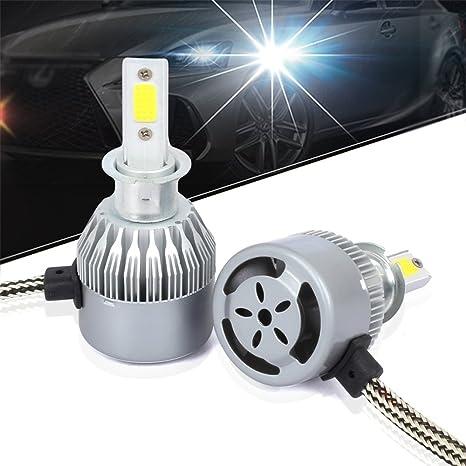 Lidauto Lámpara de luz de Coche Bombillas LED para Faros Impermeable H4 H7 H11 3200LM 6000K