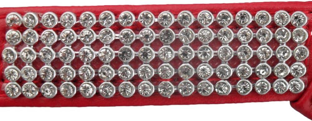 Eizur R/églable Chien Harnais PU cuir avec Strass Bling diamant sans-tirer S/écurit/é Durable Easy Fit Poitrine Faisceau pour Chiens Animaux Taille XS-Rose