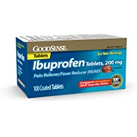 GoodSense Pain Reliever and Fever Reducer Ibuprofen Tablets, 200 mg
