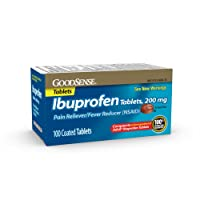 GoodSense Ibuprofen Tablets, 200 mg, Pain Reliever and Fever Reducer, 100 Count,...