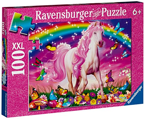 Ravensburger Horse Dreams – 100 Piece Glitter Jigsaw Puzzle for Kids – Every Piece is Unique, Pieces Fit Together Perfectly