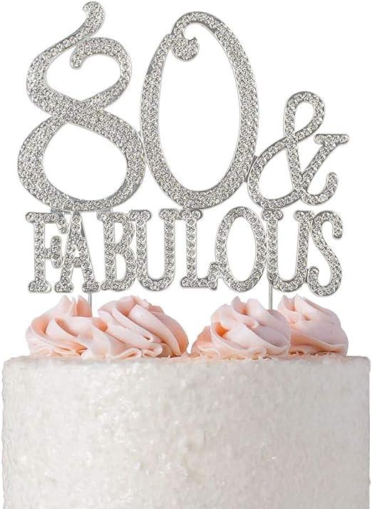 Stunning Crystal Rhinestone Gem Happy Birthday Party Cake Toppers Picks Decor