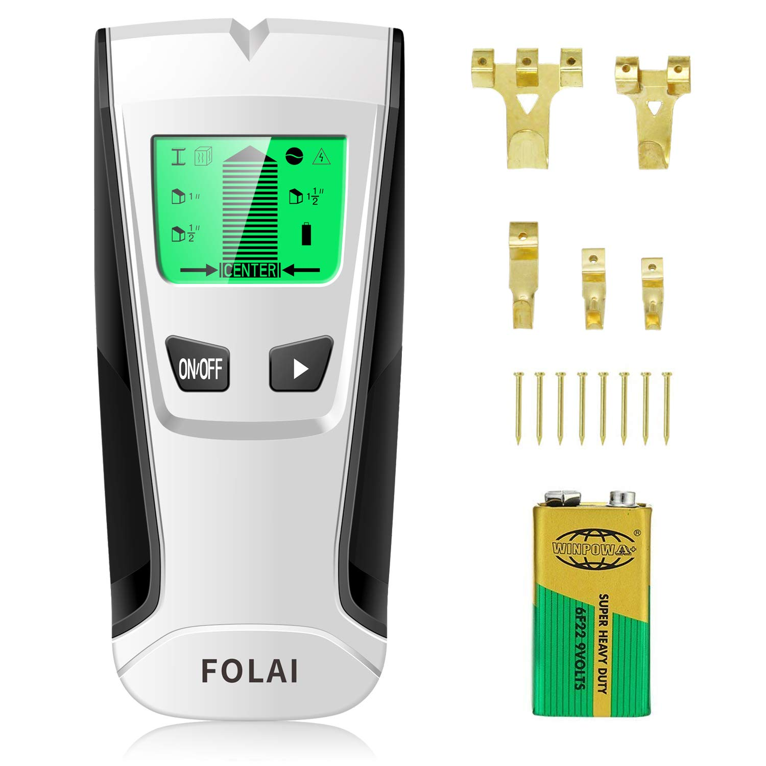 Stud Finders Wall Finder Wall Scanner Center-Finding Stud Finder with Sound Warning for AC Wire, Metal, Wall Studs, Wood