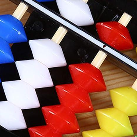 Pl/ástico /ábaco Soroban Aritm/ética C/álculo de la herramienta 13 Barras de herramientas con cuentas de colores Gran Educativo para Ni/ños 1pc