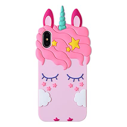 Amazon.com: Carcasa para iPhone, diseño de unicornio, color ...