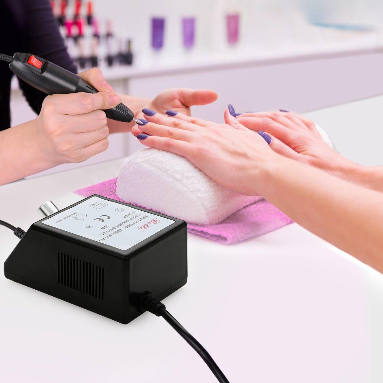 Amazon.com : Belle Electric Nail Drill Glazing Fast Salon Manicure ...