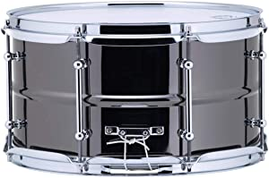 Ludwig LW0713C Black Magic Snare Drum, Chrome Hardware & Tube Lugs, 7'' x 13''