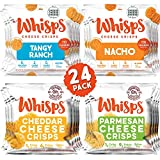 Whisps Cheese Crisps 24 Pack Assortment | Keto Snack, Gluten Free, Sugar Free, Low Carb, High Protein | Parmesan, Cheddar, Nacho, Ranch, 0.63oz (24 pack) (Tamaño: Pack of 24 (0.63 Ounce))