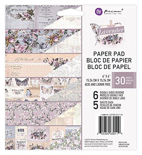 Prima Marketing Lavender-6x6 Paper Pad