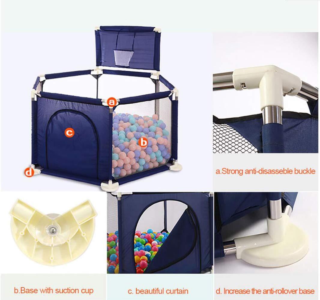 Indoor- und Outdoor-Spiele ,Blau WLAN Baby- und Kleinkinder Laufstall und B/ällebad-Set Spielcenter mit atmungsaktivem Mesh f/ür Neugeborene B/älle Nicht enthalten