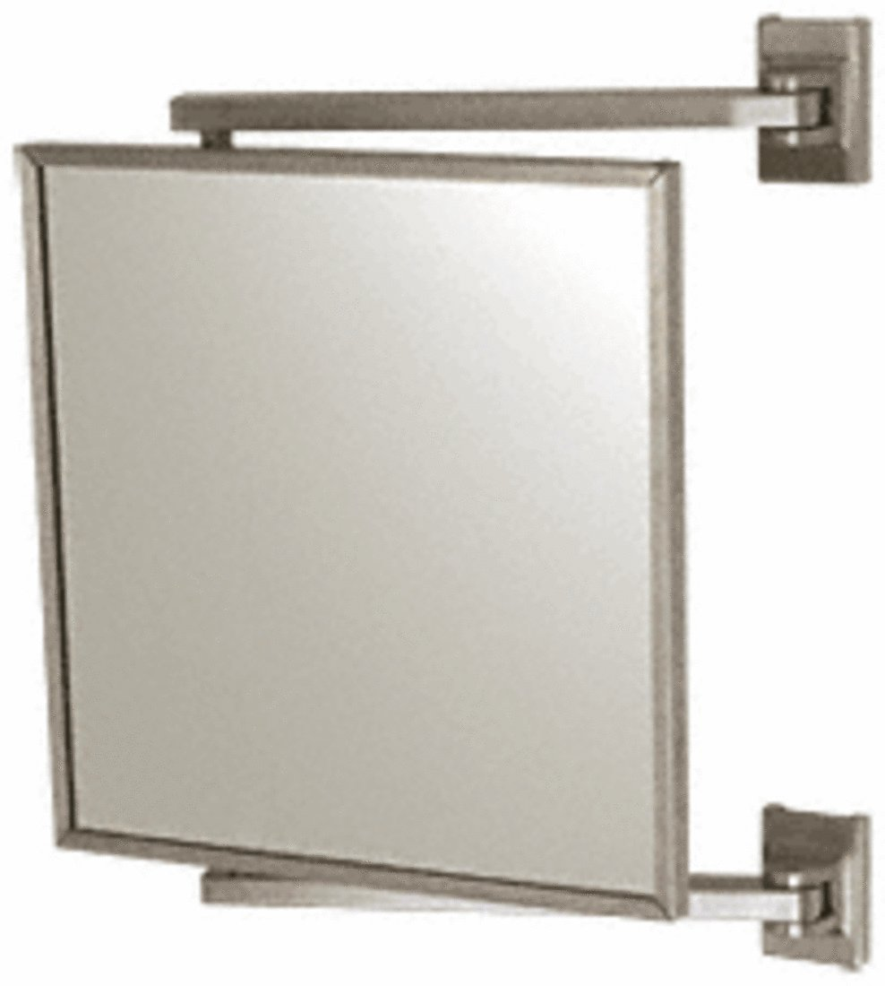 CRL Brushed Nickel 11'' x 11'' Pivot-N-View Mirror