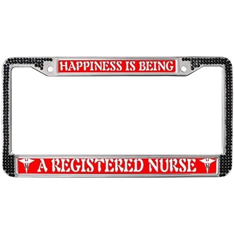 Amazon.com: GND RN Nurse Quotes Bling Black License Plate ...
