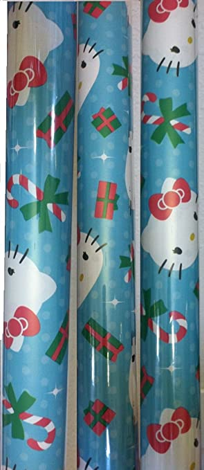 18c84250a Image Unavailable. Image not available for. Color: HELLO KITTY ~ Christmas  Wrapping Paper ...