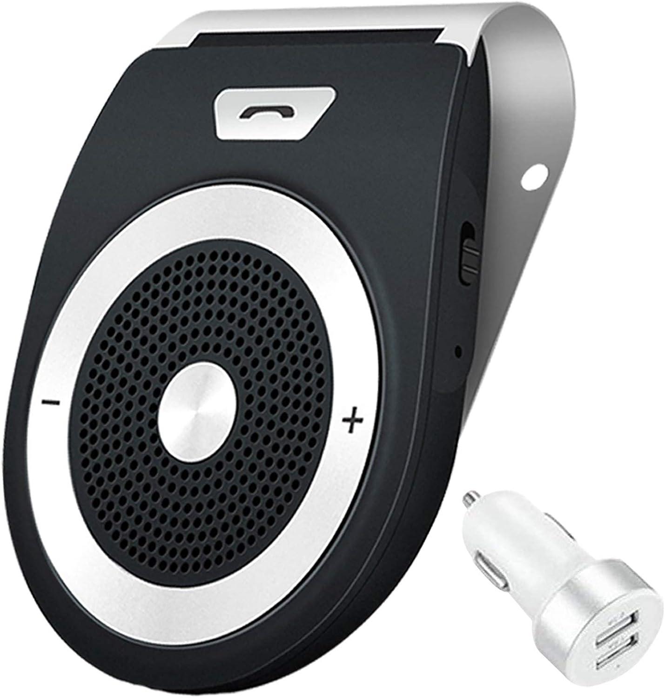 Aigital Auto Power On Kfz Freisprecheinrichtung Bluetooth Auto Freisprechanlage Visier Car Kit Mit Eingebautem Bewegungssensor Unterstützt Gps Musik Handsfree Für 2 Telefone Gleichzeitig Elektronik