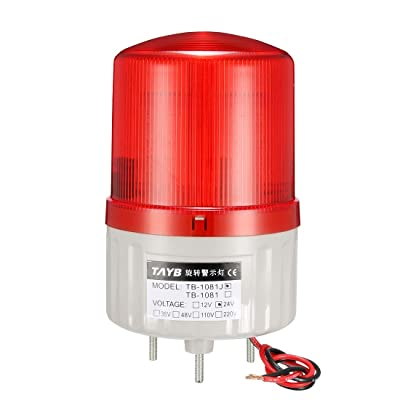 uxcell LED Warning Light Bulb Bright Signal Alarm Lamp Buzzer 90dB DC24V Red Bolt Bottom TB-1081J: Home Improvement