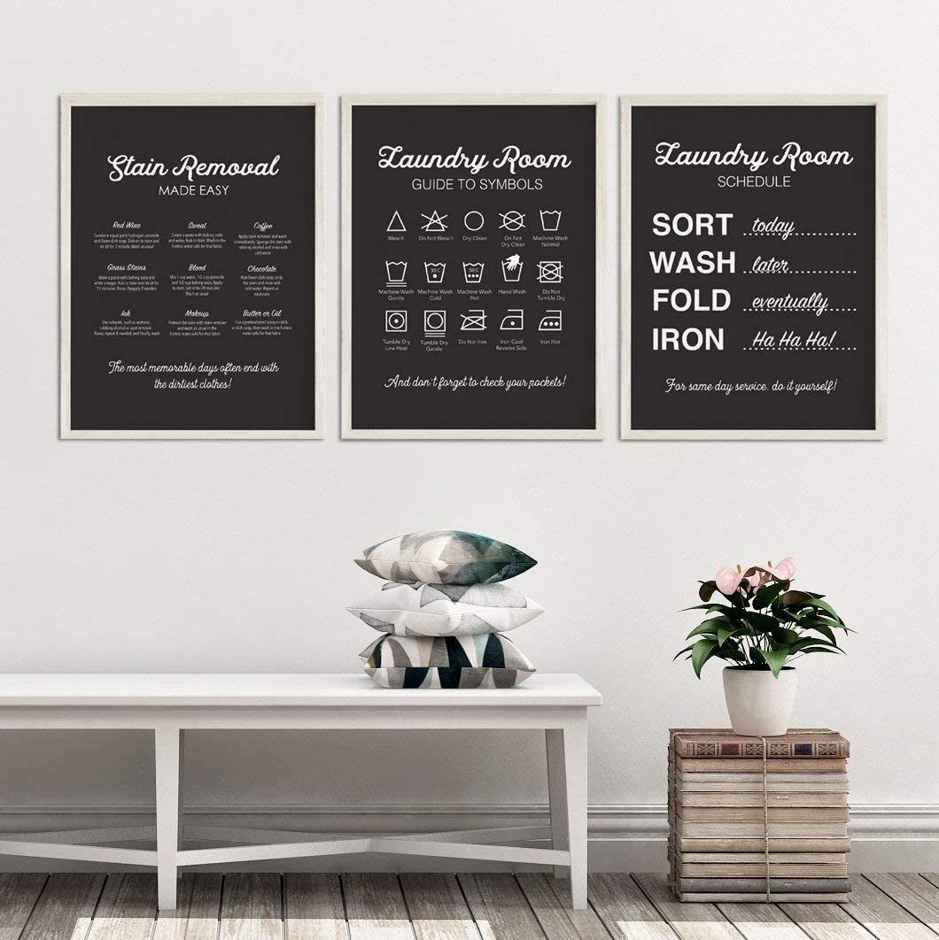 Laundry Definition Frame Wall Art Quotes New Home Print Modern