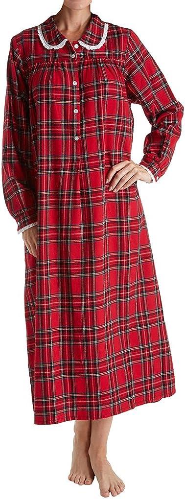 Lanz von Salzburg Women'S lange Sleeve Flannel Gown