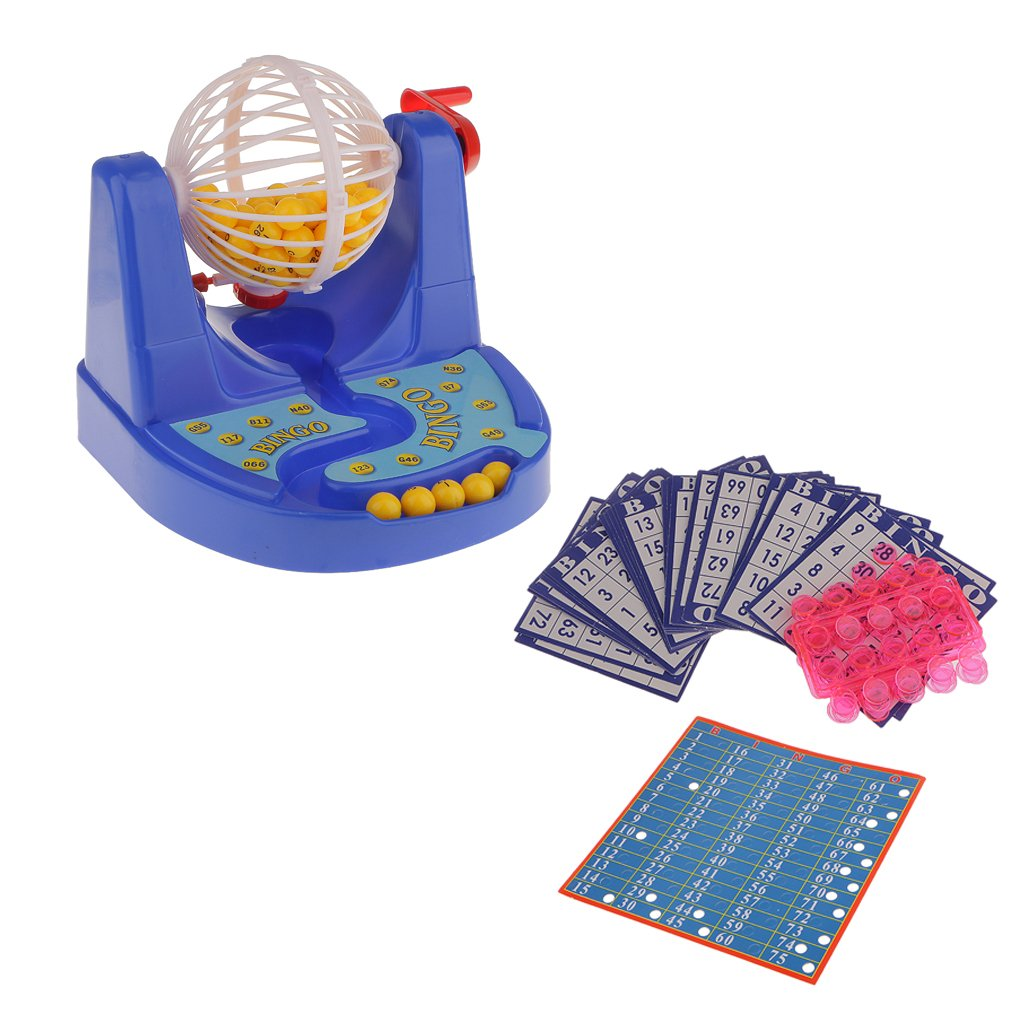 Fun Mini Bingo Game Bingo Card Ball Chip Machine Set Family Party Kids Gift Generic