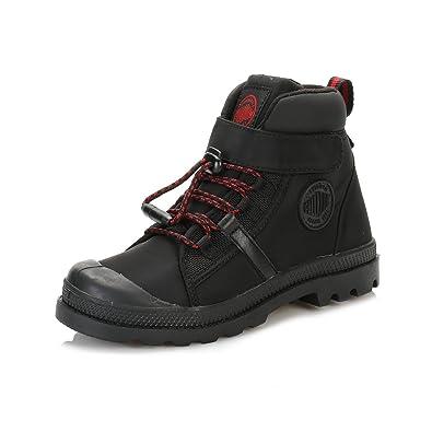 c55fe02545b6c2 Palladium Kinder Schwarz Chevron Palla Cuff WP Reißverschluss Stiefel