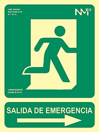 Señal Luminiscente RD14190 Salida De Emergencia Flecha ...