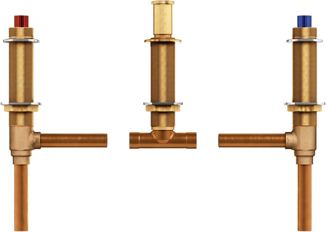 Moen 4792 Two Handle 3-Hole Roman Tub Valve Adjustable 1/2-Inch CC Connection, Brass
