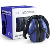 Pro For Sho 34dB Shooting Ear Protection - Special Designed Ear Muffs Lighter Weight & Maximum Hearing Protection - Standard Size, Dazzling Blue