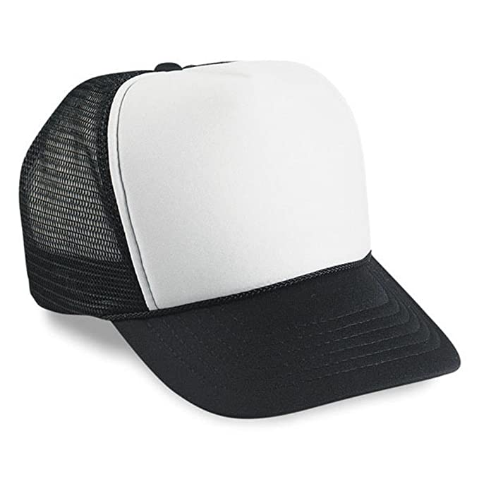 0a071788a47 1 Dozen Black and White Trucker Hats by Paynter Enterprises LLC at ...