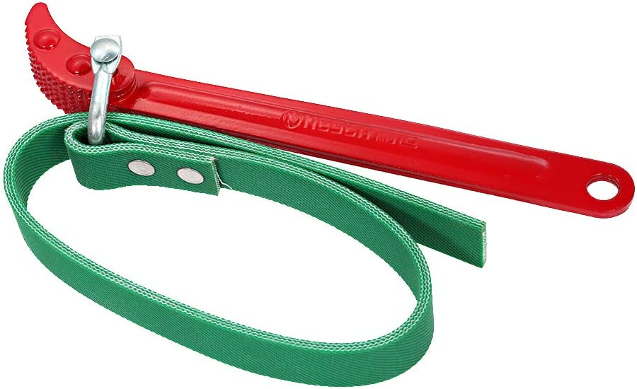 KKmoon 8-Zoll /Ölfilter-Bandschl/üssel Mehrzweck-Riemenschl/üssel /Ölfilterschl/üssel Einstellbare /Ölkraftstofffilter Entfernung Handwerkzeug Auto Tool