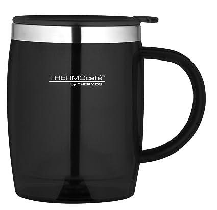 362ed092e1b Thermos ThermoCafé Translucent Desk Mug, Black, 450 ml: Amazon.co.uk:  Kitchen & Home