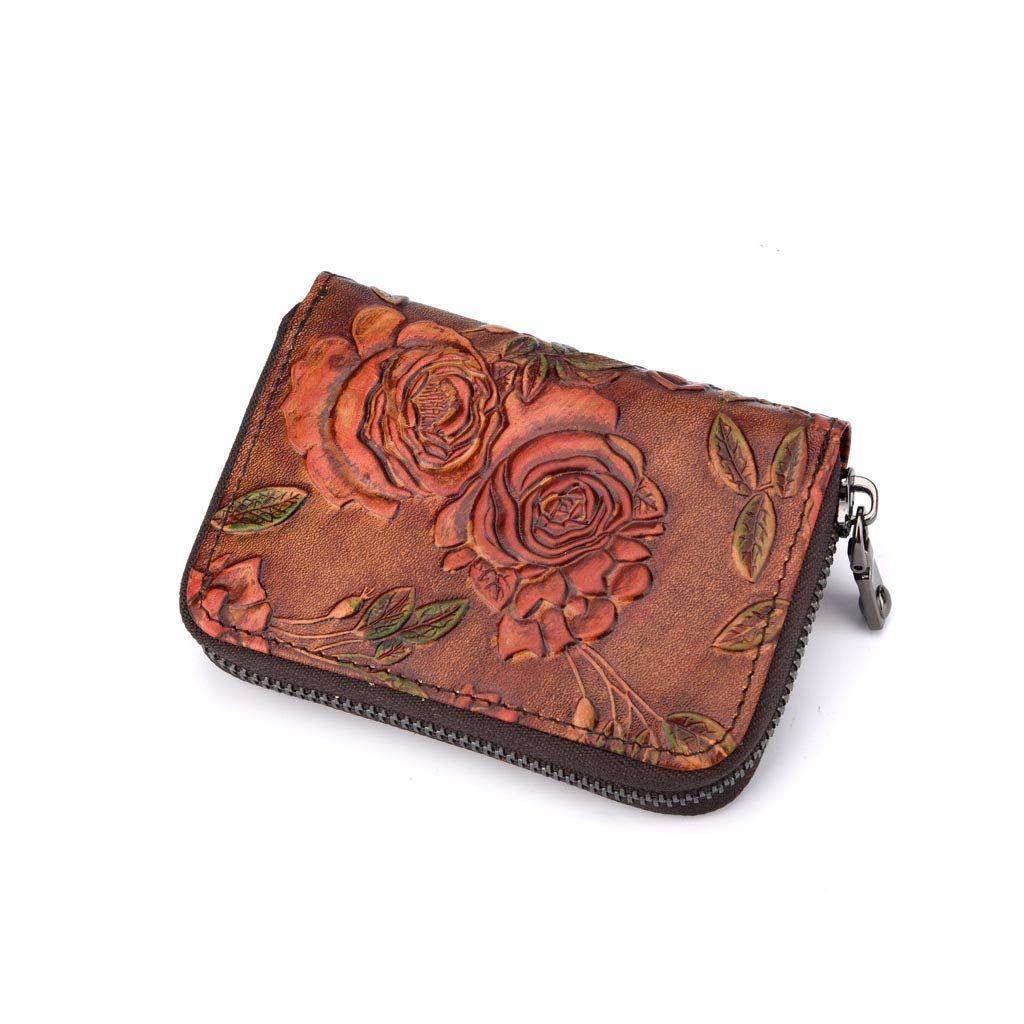 Small Leather Wallet Floral...